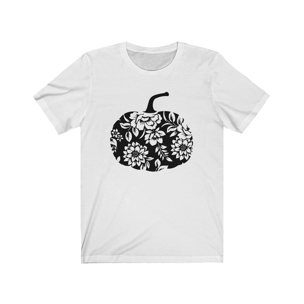 (Soft Unisex Bella) Floral Pumpkin (black)