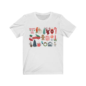 (Soft Unisex Bella) It's the Little Things Christmas Holliday Candy Cane tree Manger Naughty Nice Santa-T-Shirt-Ellas-Canvas-DesIndie