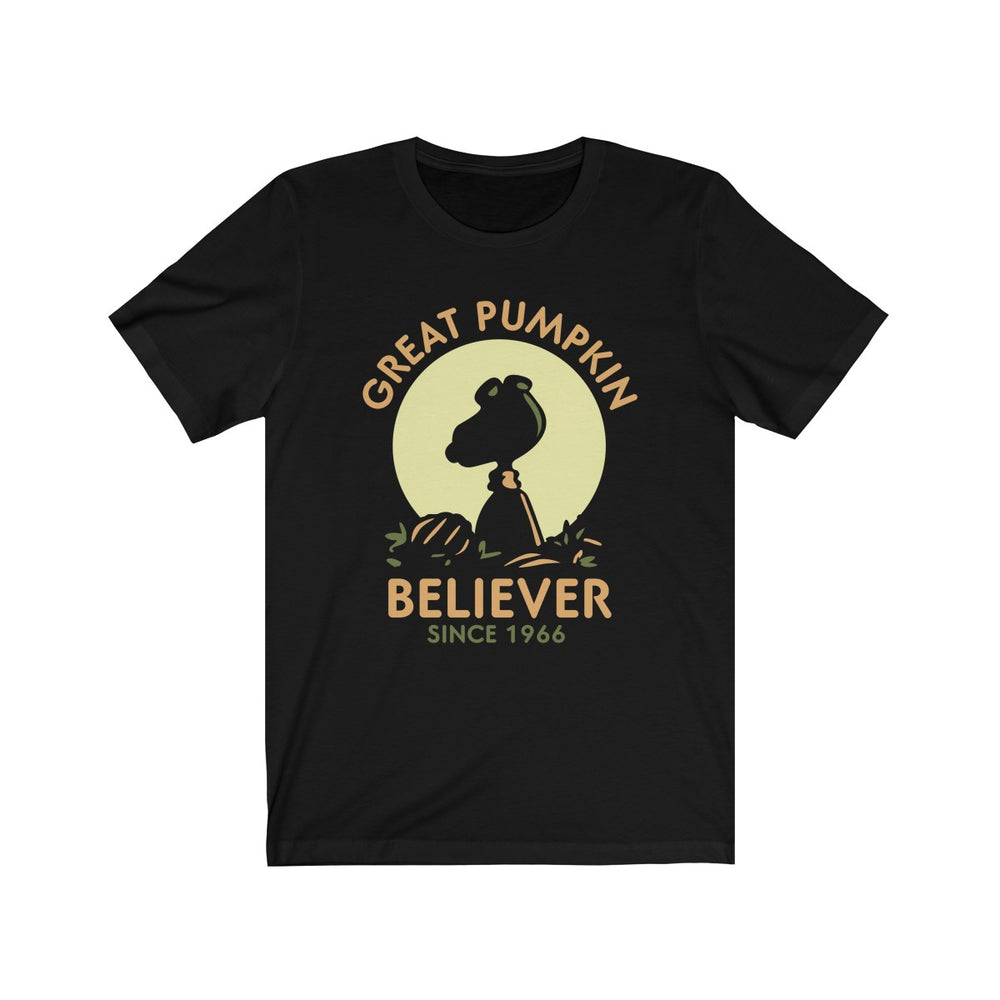 (Soft Unisex Bella) Great Pumpkin Believer-T-Shirt-Ellas-Canvas-DesIndie