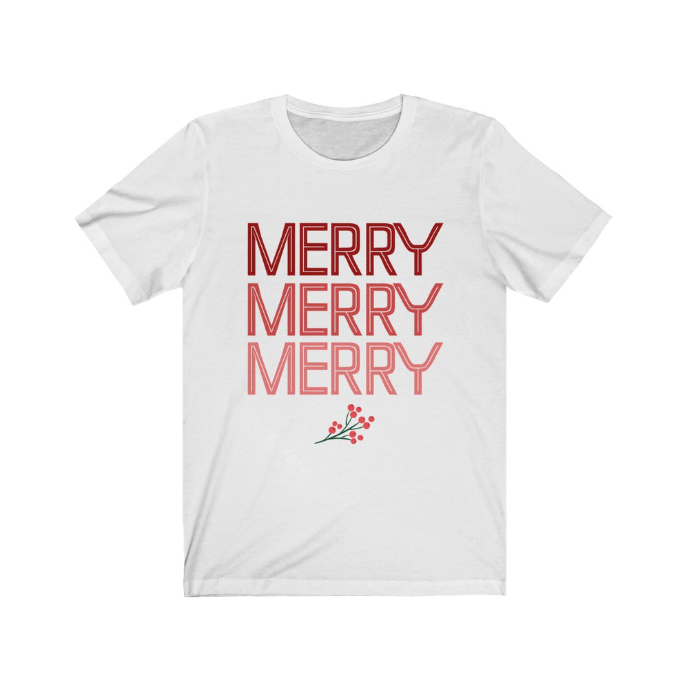 (Soft Unisex Bella) Christmas Merry Merry Merry
