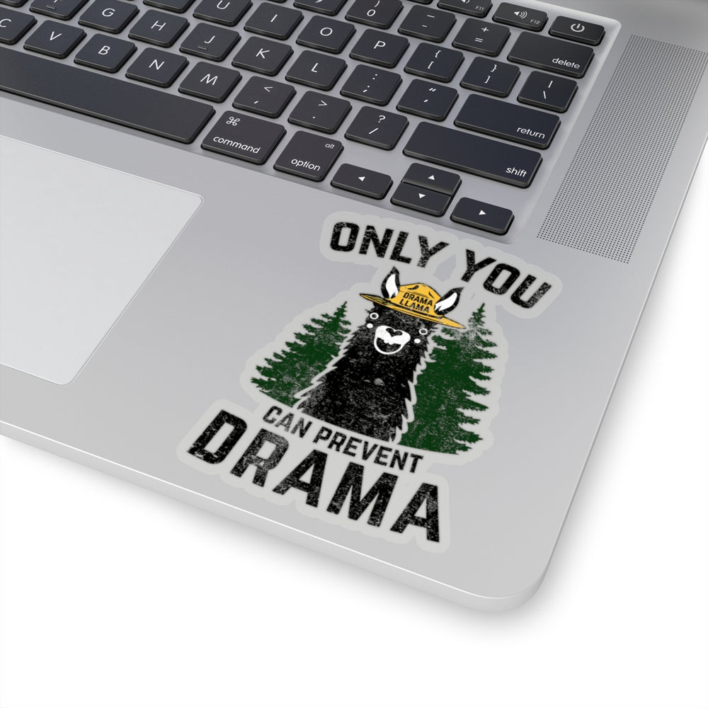 Transparent Kiss-Cut Stickers - Only You Can Prevent Drama Llama Smokey Bear Parody