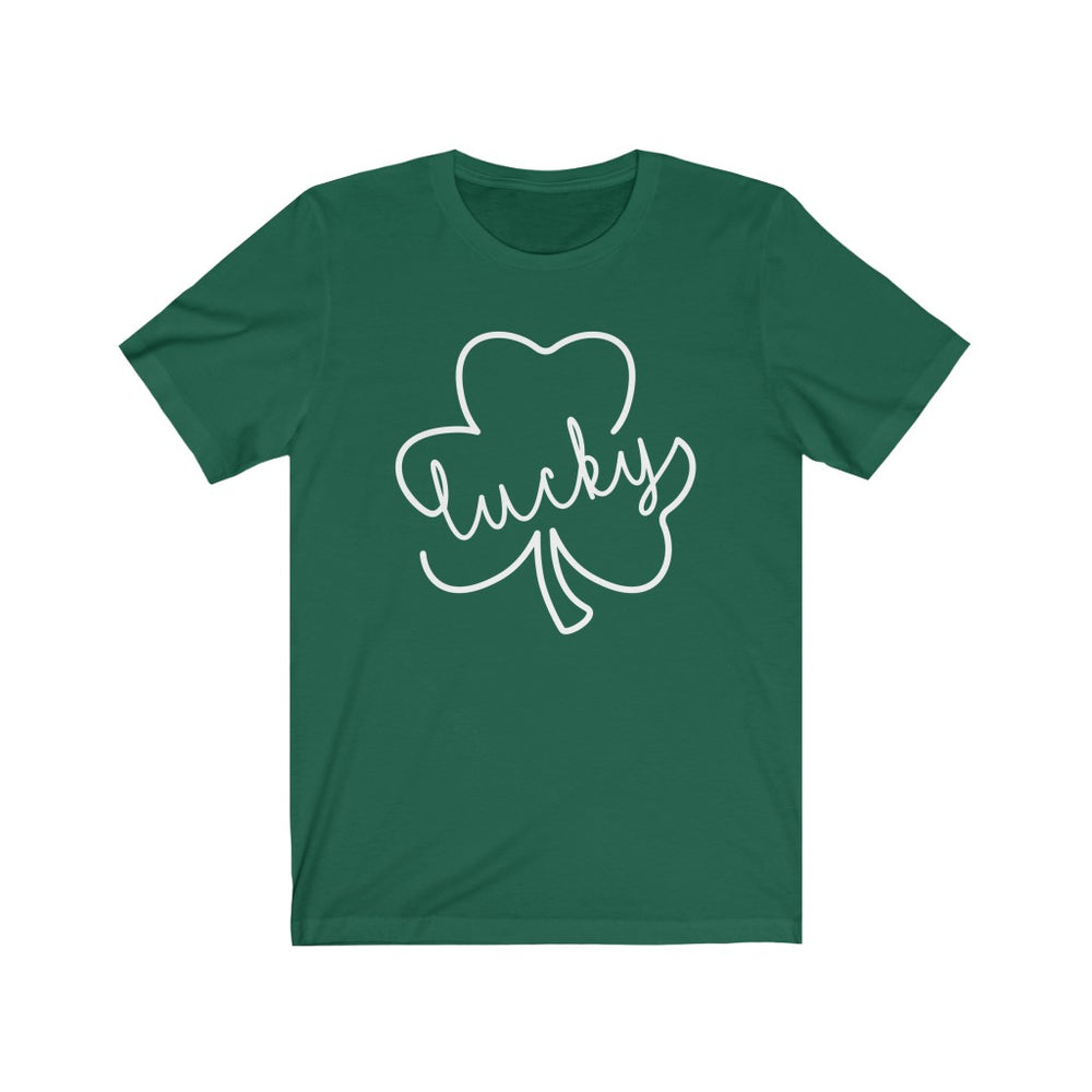 (Soft Unisex Bella - Other Colors) Lucky Clover (white)  St. Patrick's Day