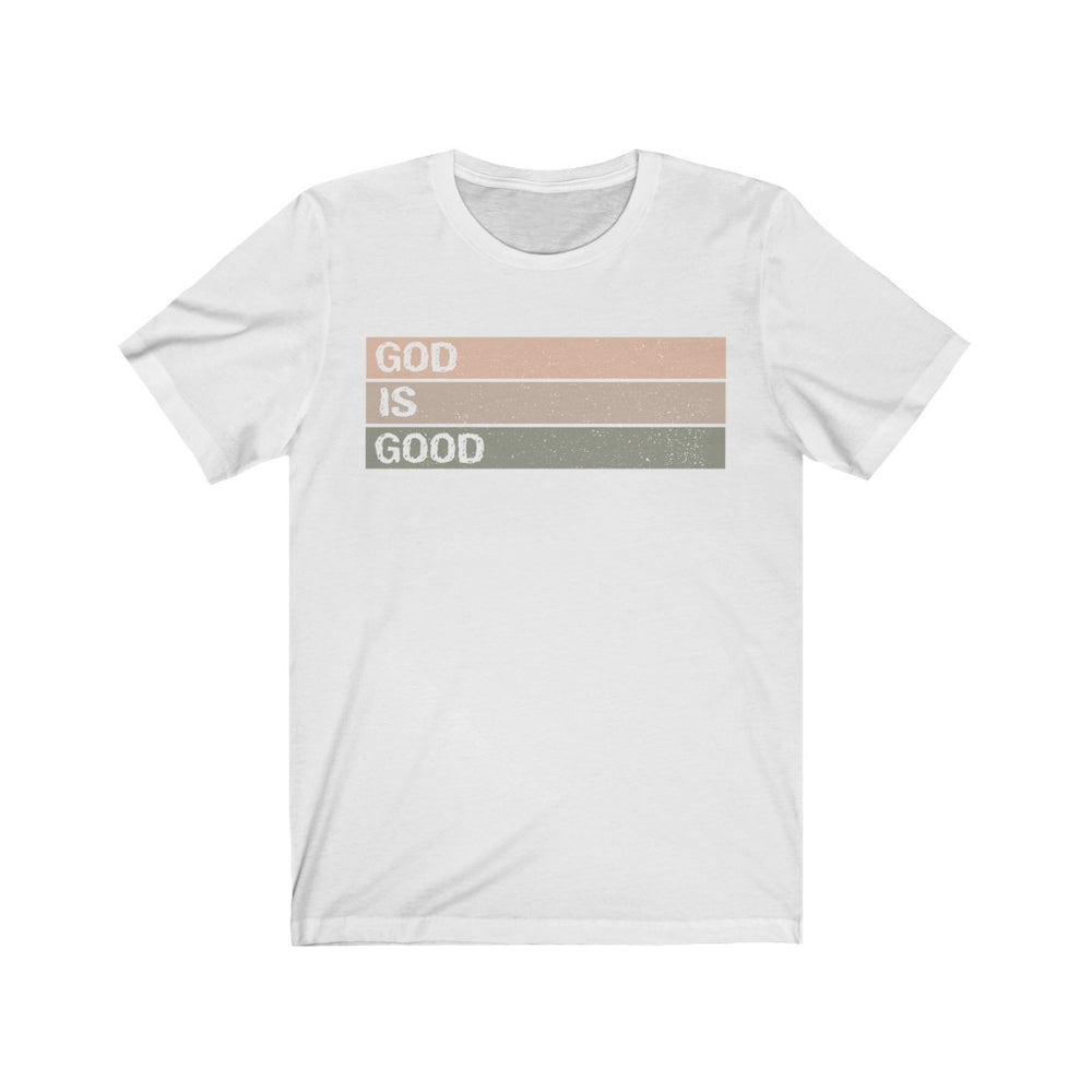 (Soft Unisex Bella) God is Good Stripes