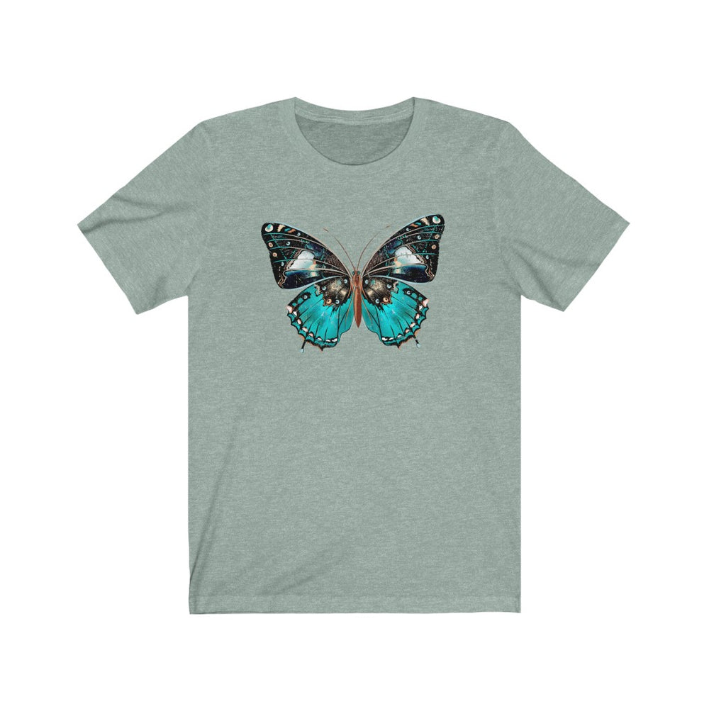 (Soft Unisex Bella) Monarch Butterfly Blue