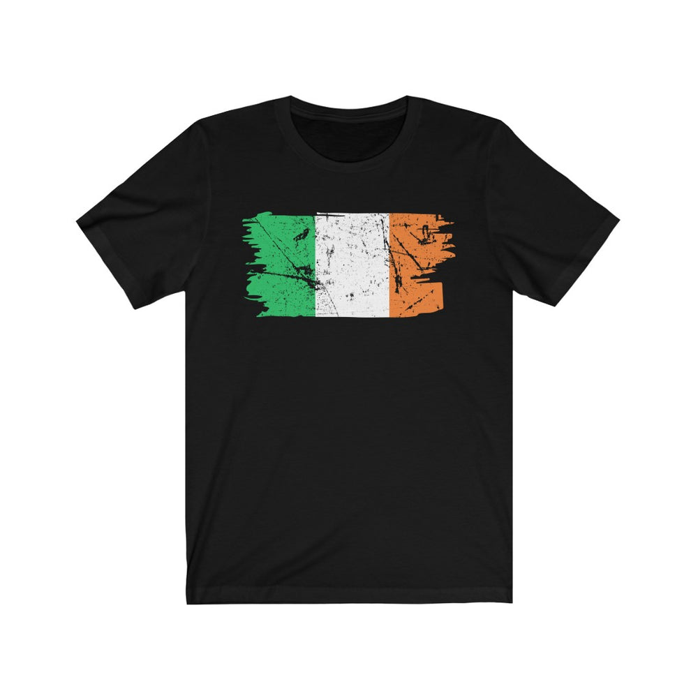 (Soft Unisex Bella - Darks) Irish Flag Grunge
