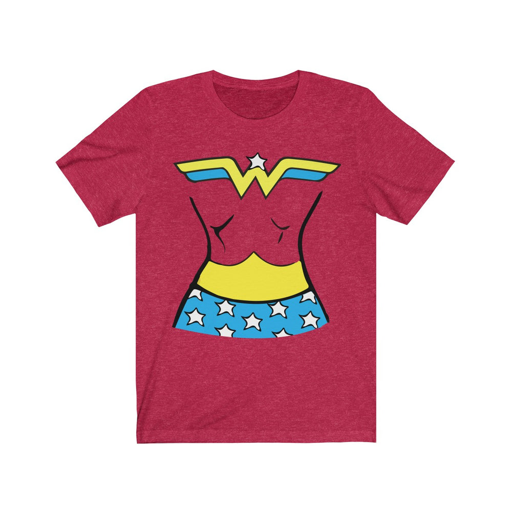 (Soft Unisex Bella) Mighty Woman Costume Tee