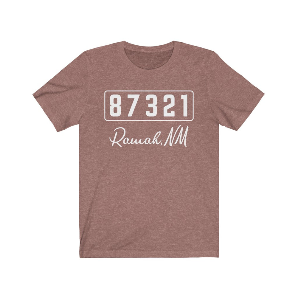 (Soft Unisex Bella) Zipcode City Name - Ramah, NM 87321 (white)