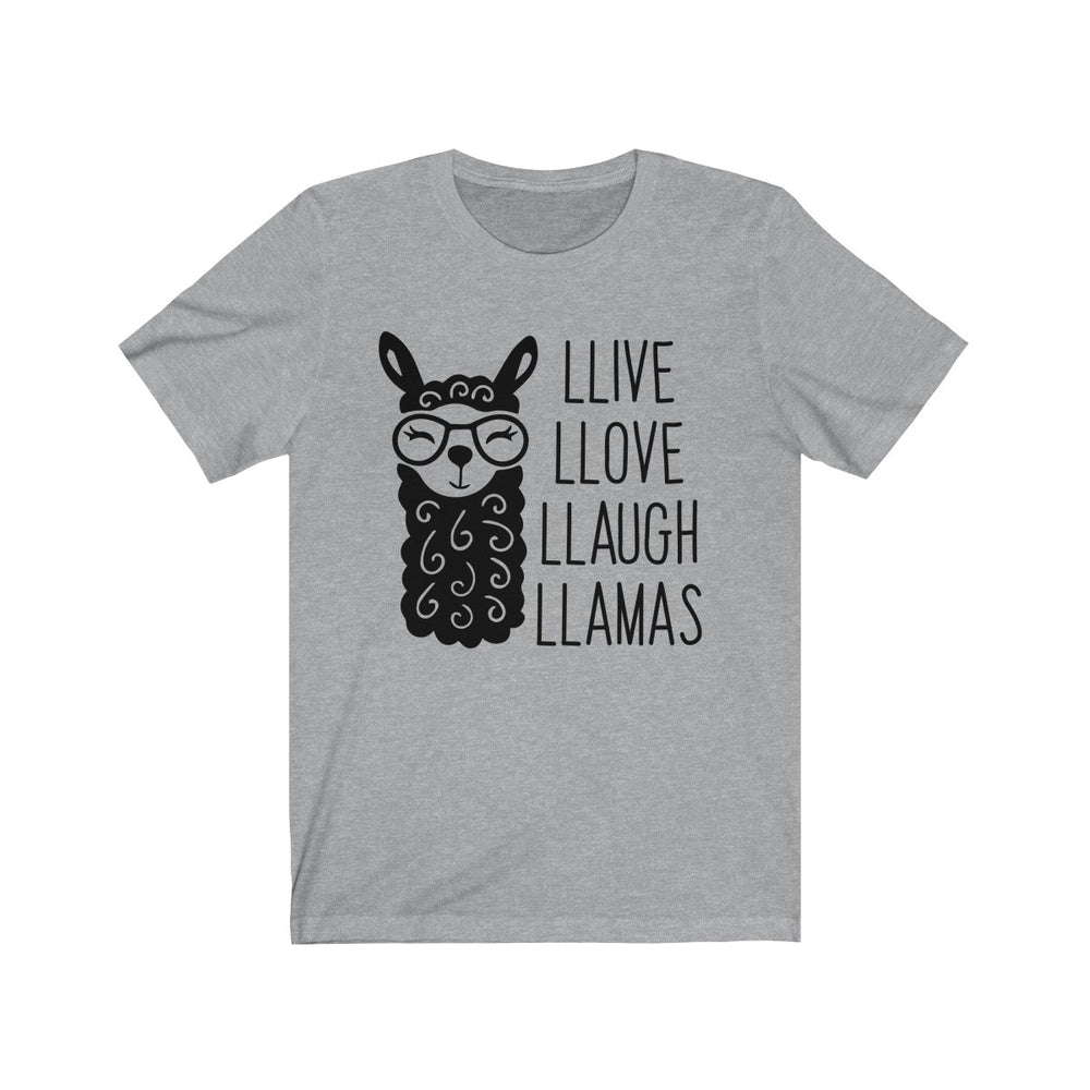 (Soft Unisex Bella - other colors) Llive Llove Llaugh LLamas