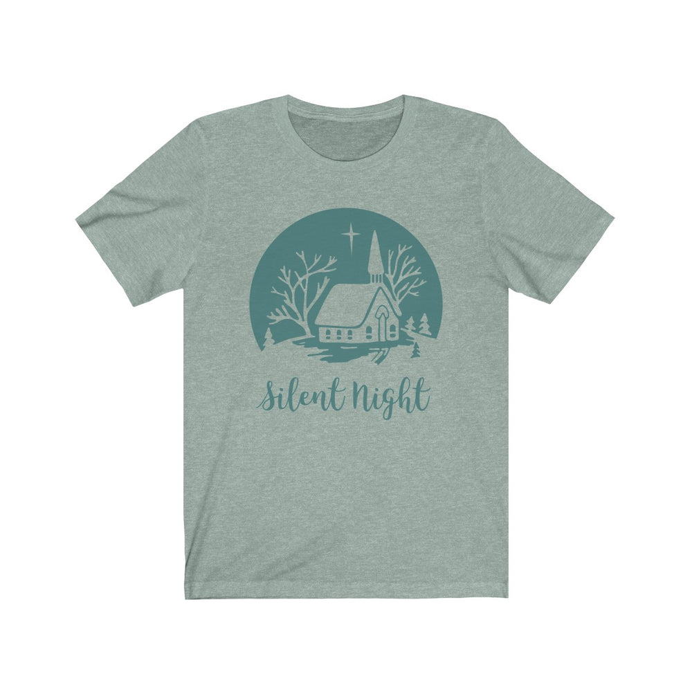 (Soft Unisex Bella) Silent Night (Teal)