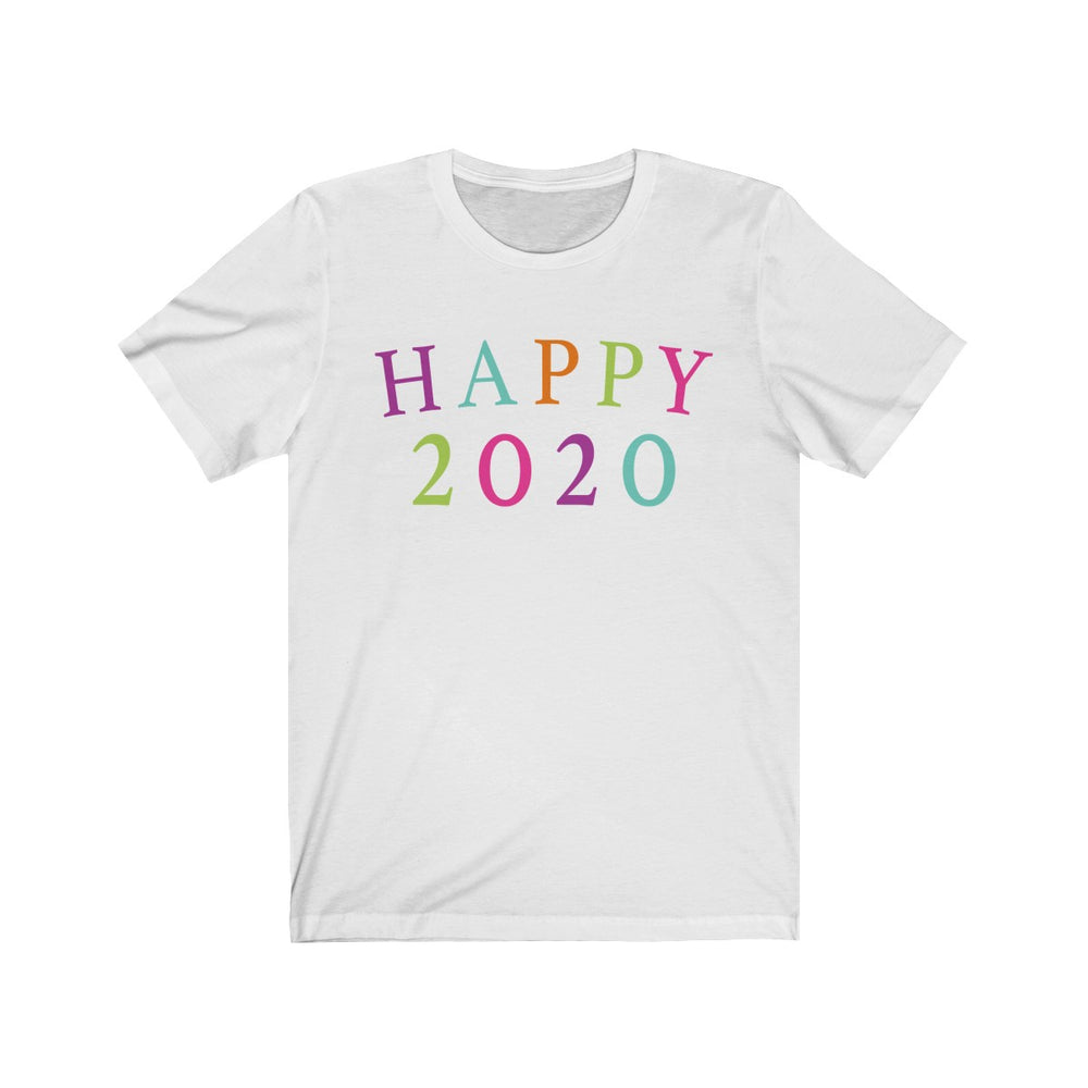 (Soft Bella Unisex) Happy New Year Rainbow 2020