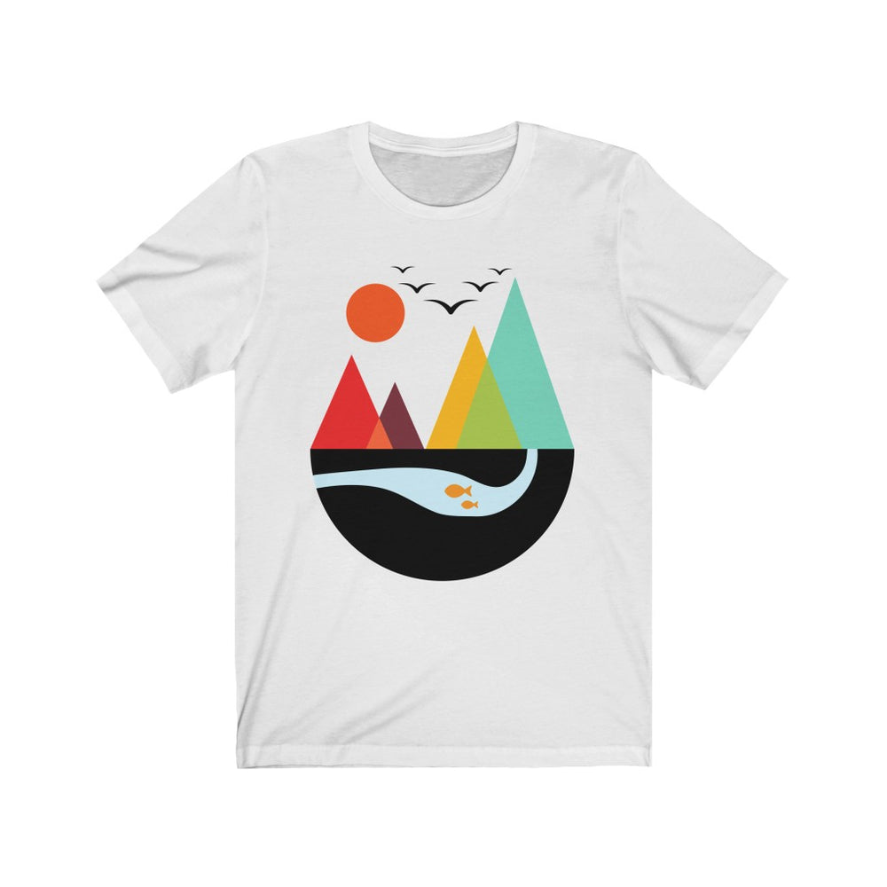 (Soft Unisex Bella) Geometric Outdoor Scene