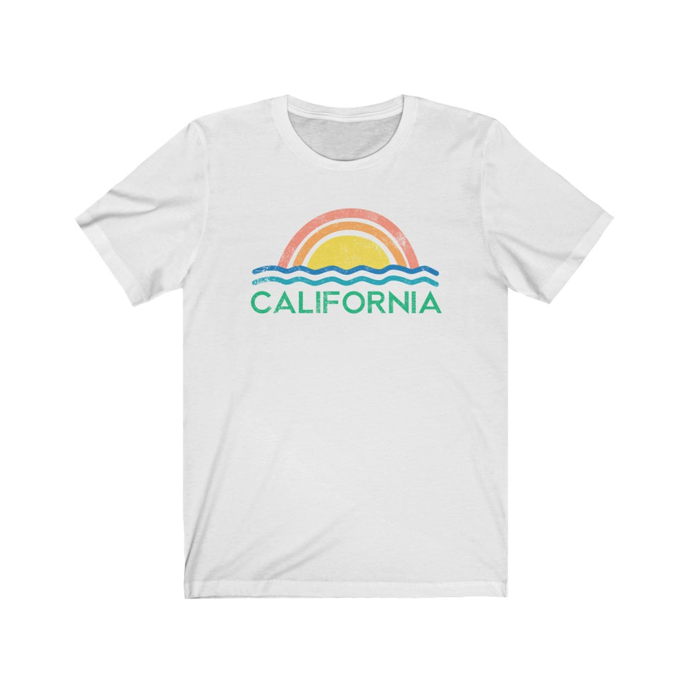 (Soft Unisex Bella) California Ocean Sunset | Iconic State Tee T-Shirt