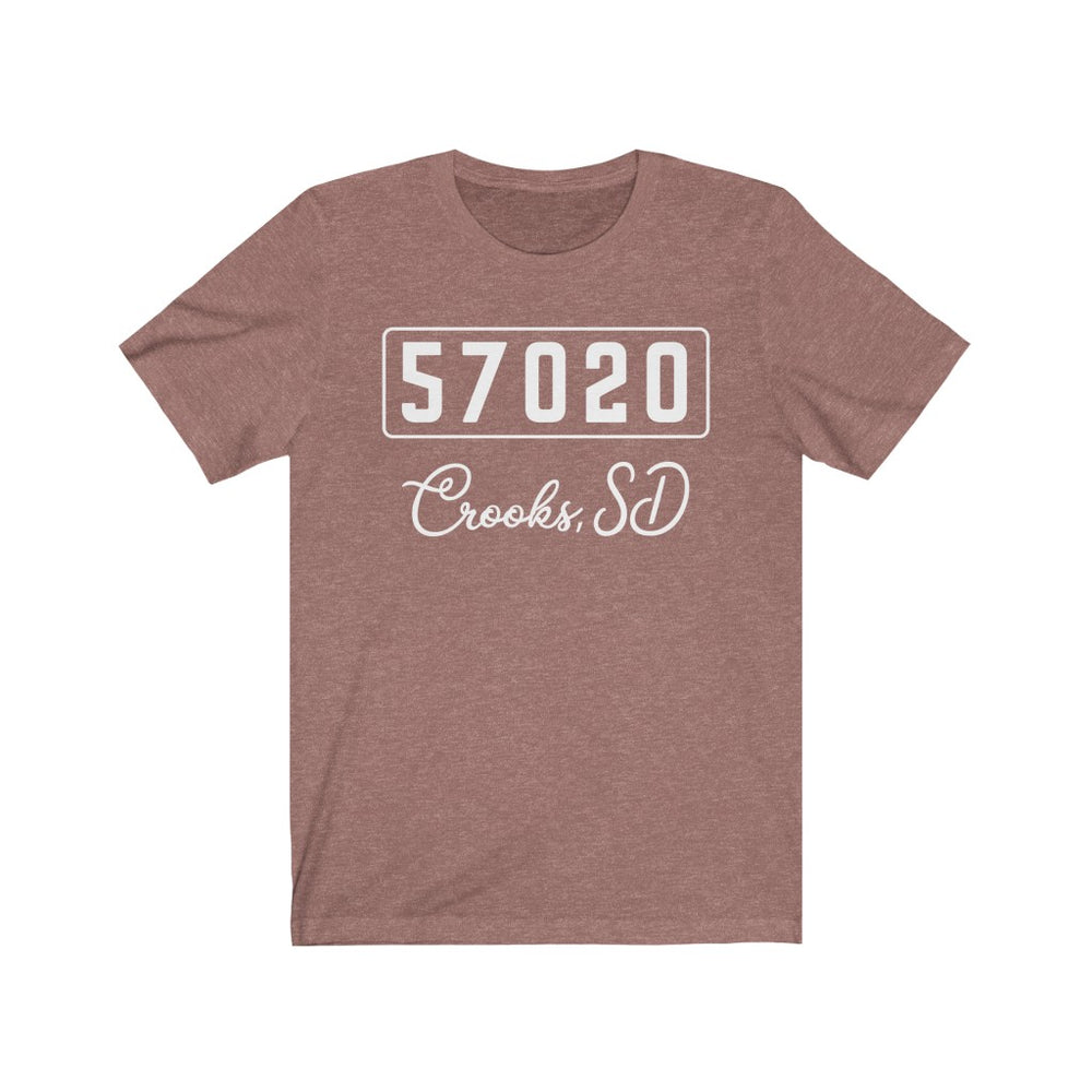 (Soft Unisex Bella) Zipcode City Name - Crooks SD, 57020