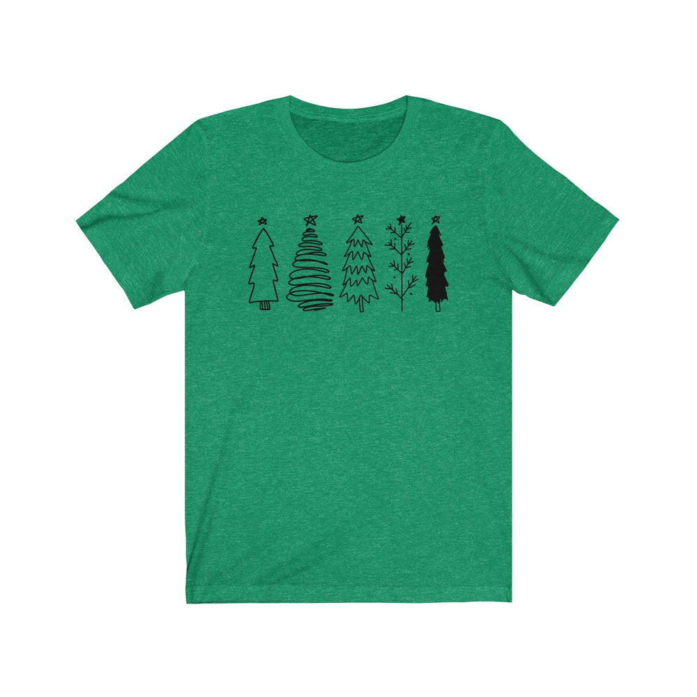 (Soft Bella Unisex) Happy Holiday Pine Trees