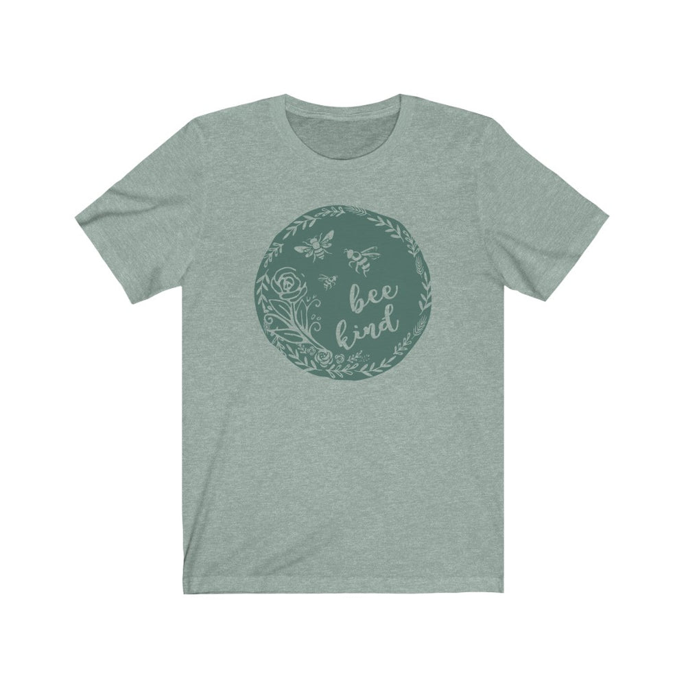 (Soft Bella Unisex) Bee Kind Teal