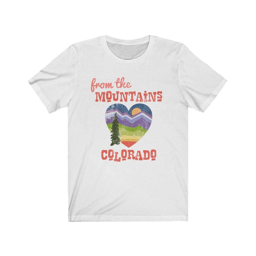 (Soft Unisex Bella) From the Mountains of Colorado | Iconic State Tee T-Shirt