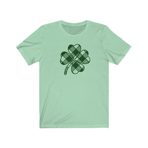 (Soft Unisex Bella - Other Colors) Plaid Clover St. Patrick's Day