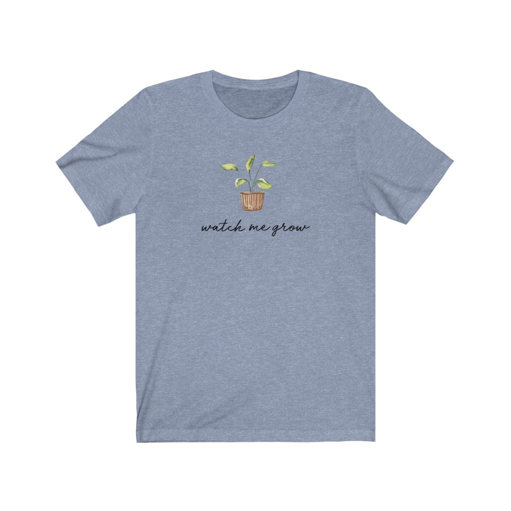 (Soft Unisex Bella - other colors) Watch Me Grow Potted Plant