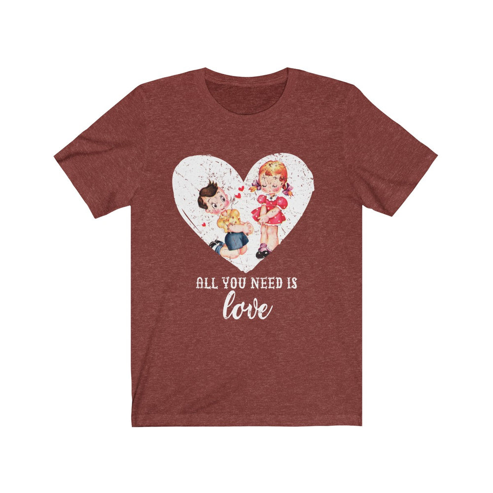 (Soft Unisex Bella) All You Need is Love (Grunged art)