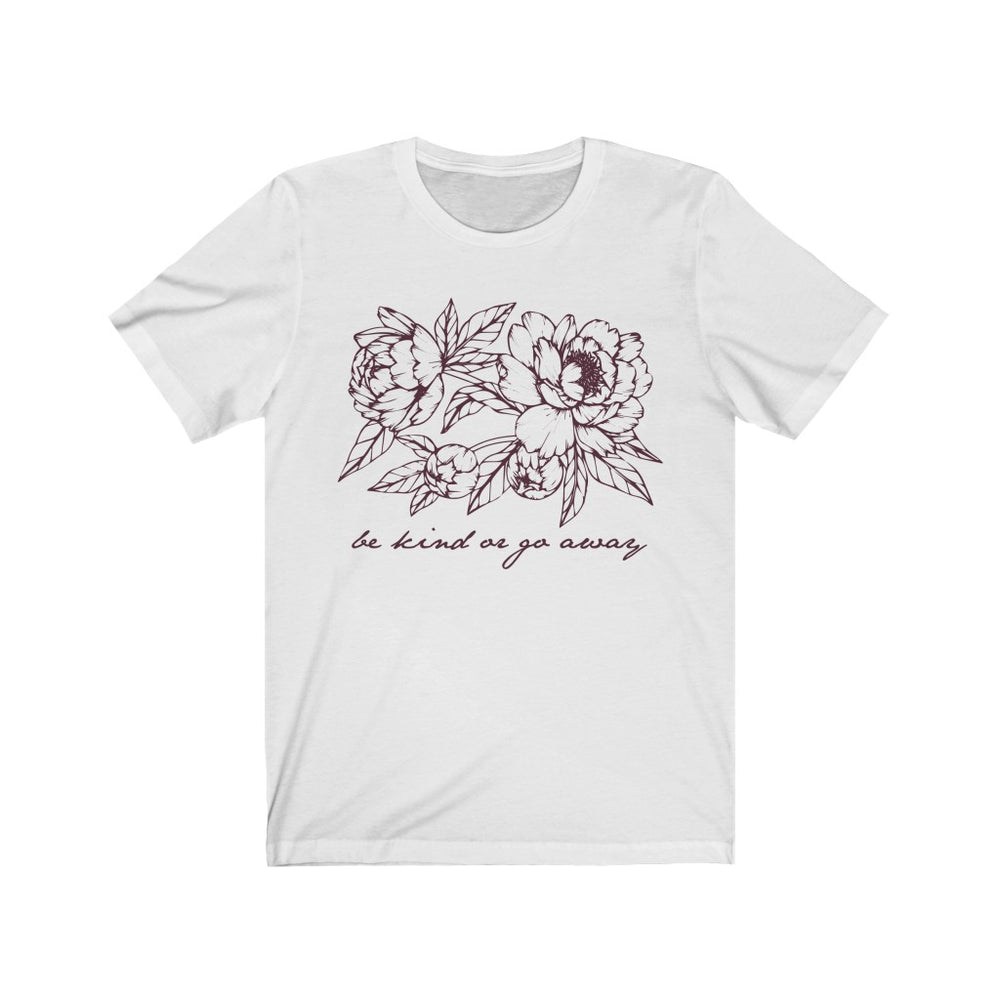 (Soft Unisex Bella) Be Kind or Go Away (mauve artwork)