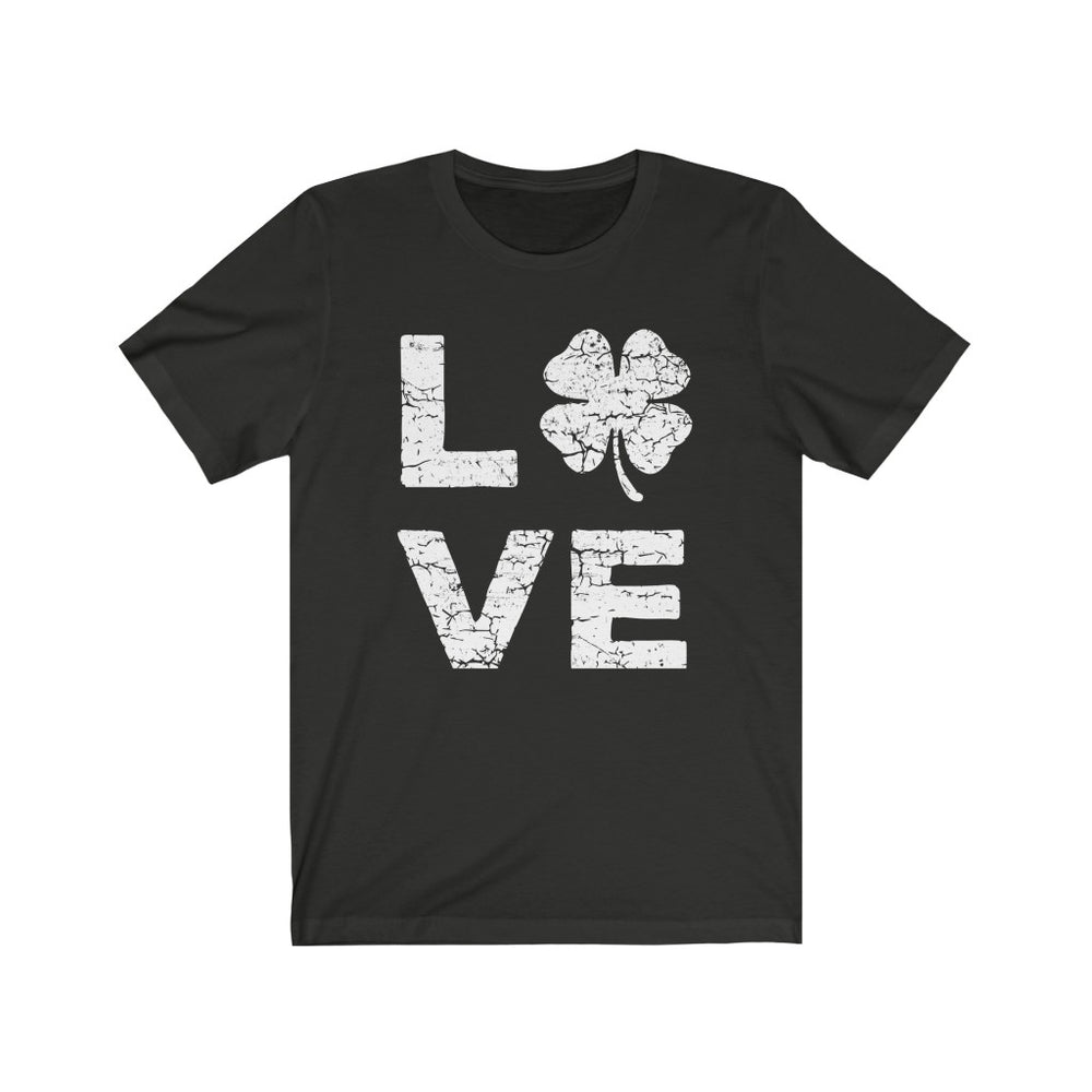 (Soft Unisex Bella - Others) Lucky Love Clover (white)  St. Patrick's Day