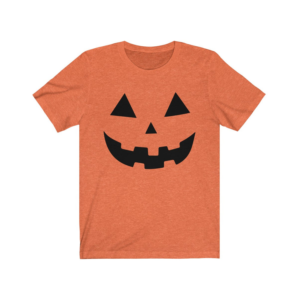 (Soft Unisex Bella) Pumpkin Face (black)