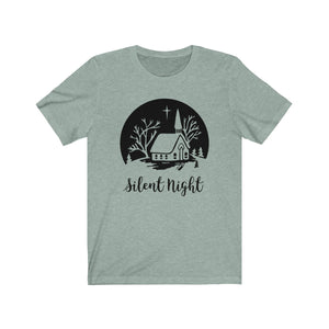 (Soft Unisex Bella) Silent Night (Black)