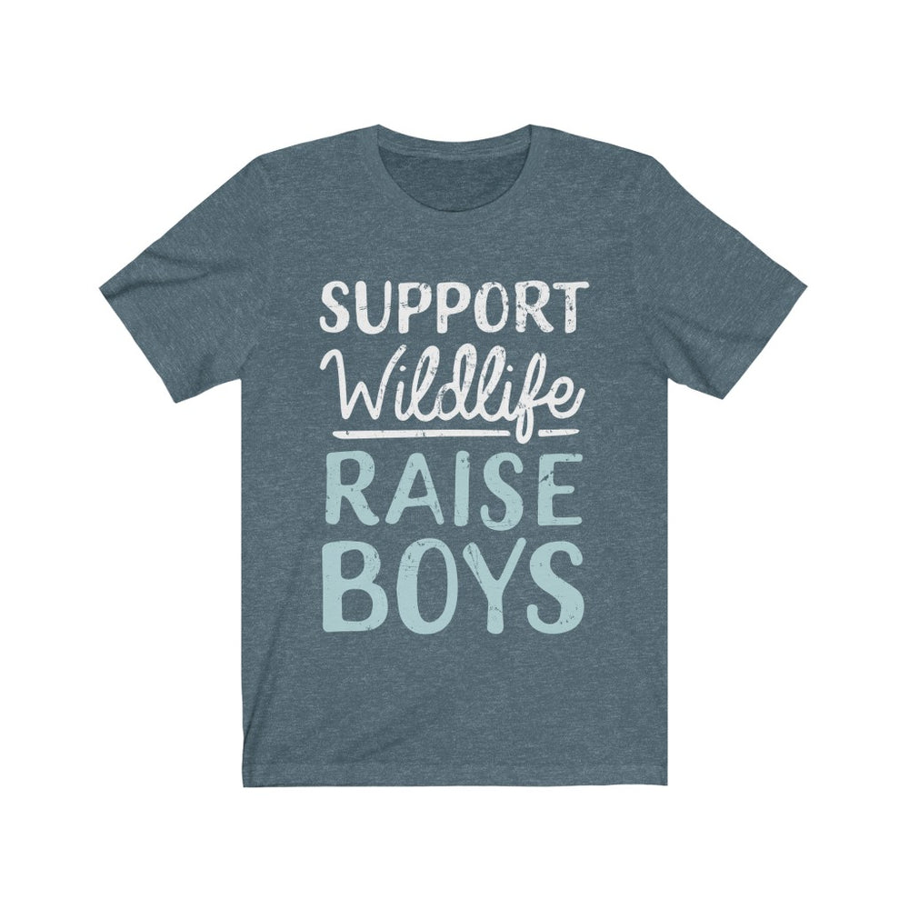(Soft Unisex Bella) SUPPORT Wildlife RAISE BOYS