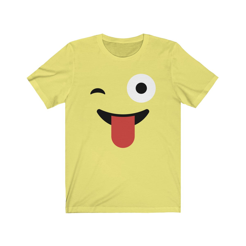 (Soft Unisex Bella) Emoji Funny Face Tongue