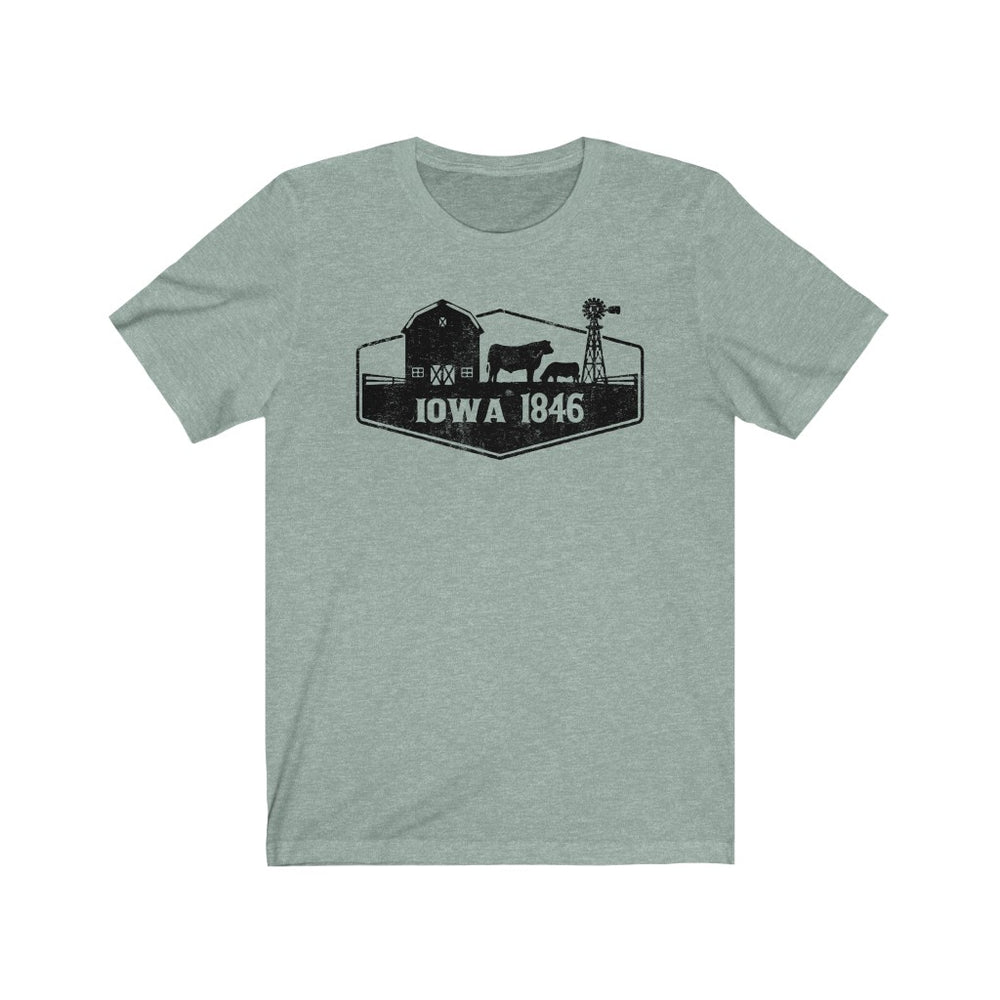(Soft Unisex Bella) Iowa 1846 | Iconic State Tee T-Shirt