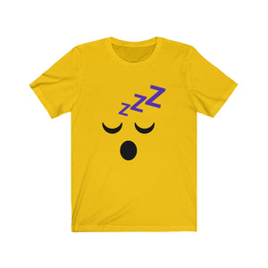 (Soft Unisex Bella) Emoji Funny Face Sleepy-T-Shirt-Ellas-Canvas-DesIndie