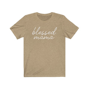 (Soft Unisex Bella) blessed mama (white)