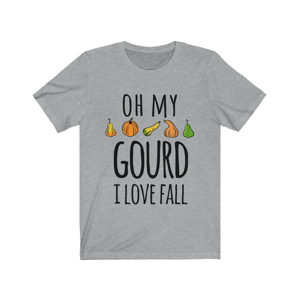 (Soft Unisex Bella) Oh My Gourd I Love Fall-T-Shirt-Ellas-Canvas-DesIndie