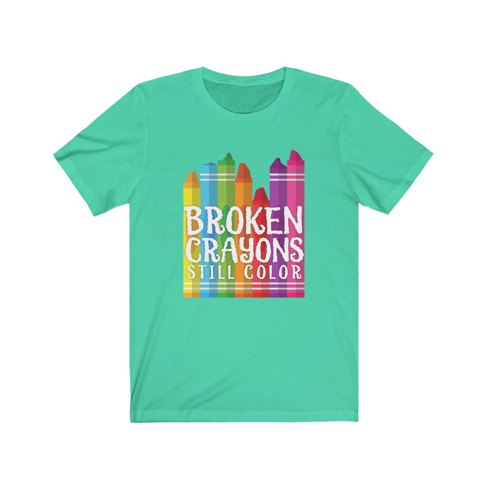 (Soft Unisex Bella) Broken Crayons Still Color