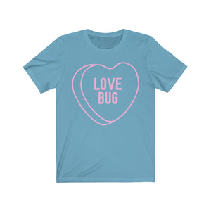 (Unisex Soft Bella) Conversational Heart Outline Costume Tee - LOVE BUG