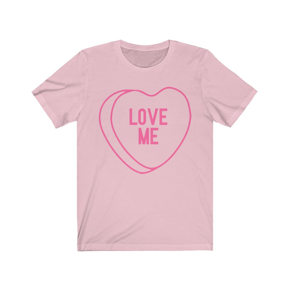 (Unisex Soft Bella) Conversational Heart Outline Costume Tee - LOVE ME