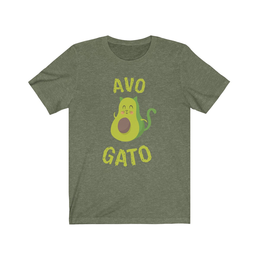 (Soft Unisex Bella) Avo Gato Cat Avocado-T-Shirt-Ellas-Canvas-DesIndie