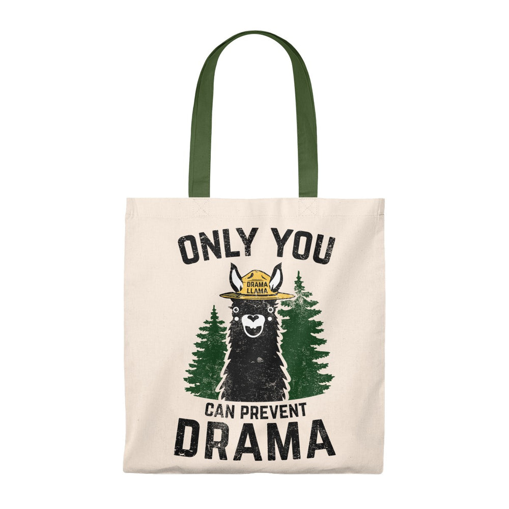 Tote Bag - Vintage Only You Can Prevent Drama Llama Smokey Bear Parody