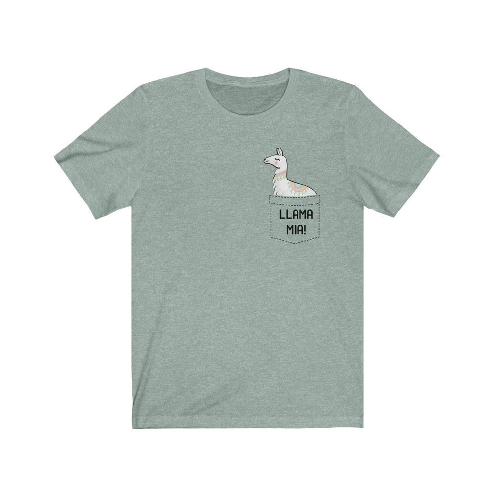 (Soft Unisex Bella - other colors) Llama Mia Fake Pocket