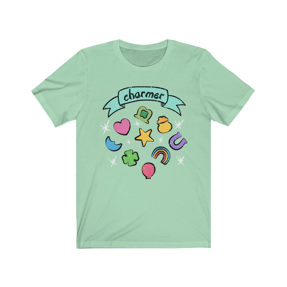 (Soft Unisex Bella - Greens) Charmer Marshmallow Lucky Charm
