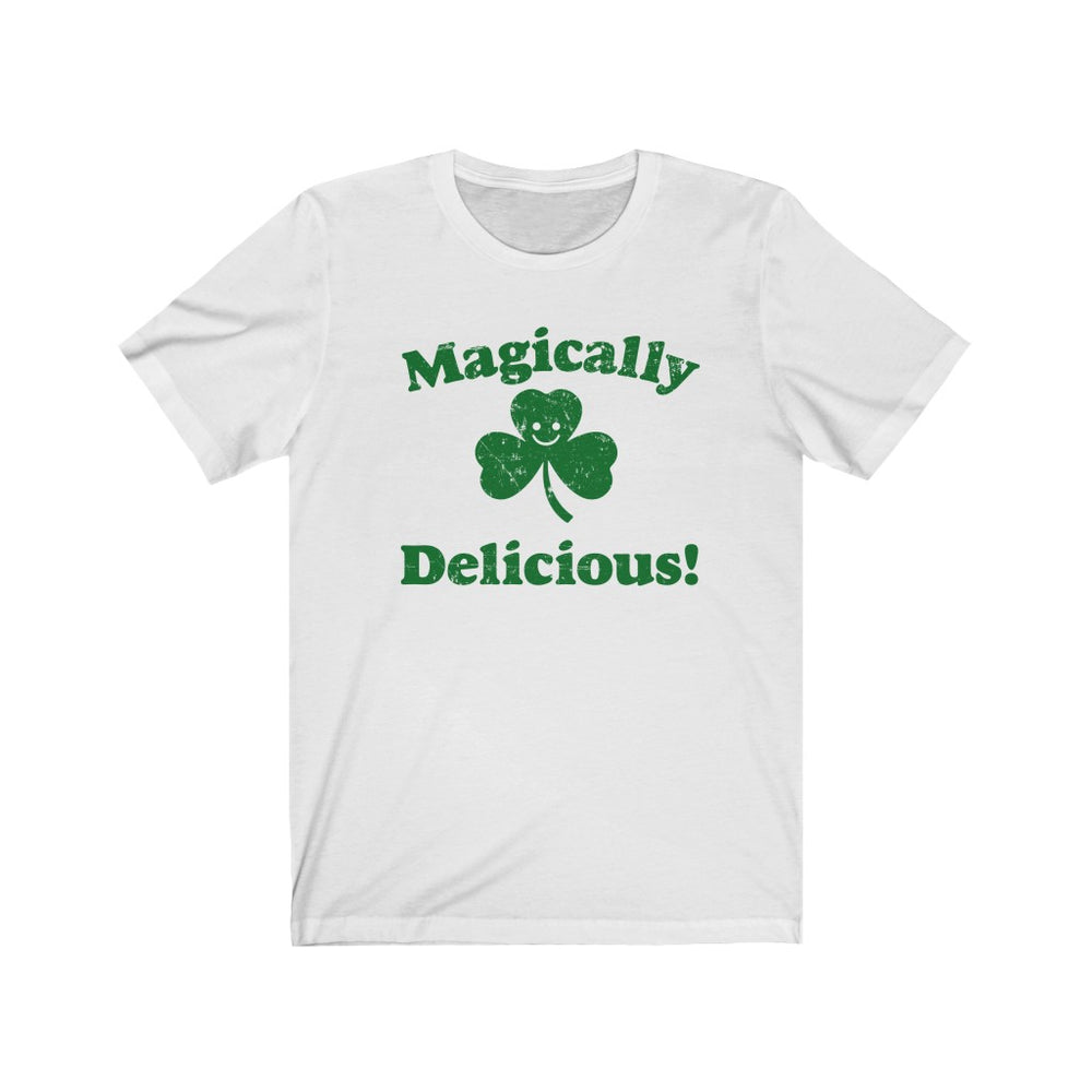 (Soft Unisex Bella) Magically Delicious Clover (green)  St. Patrick's Day