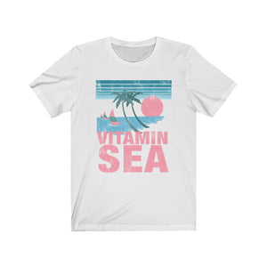 (Soft Unisex Bella) Vitamin Sea (pink) | Iconic State Tee T-Shirt