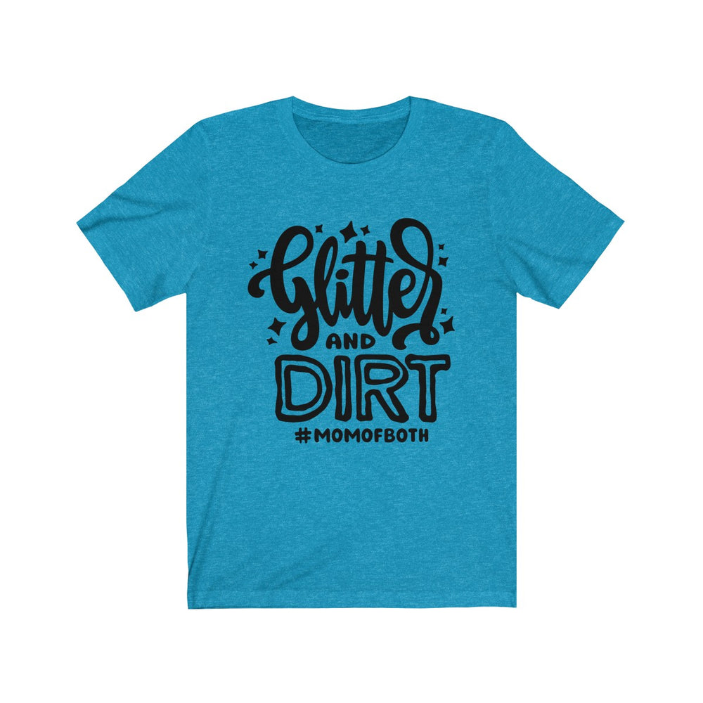 (Soft Unisex Bella) Glitter & Dirt #momofboth (black)