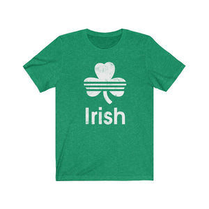 (Soft Unisex Bella - Greens) Irish St. Patrick's Day - White