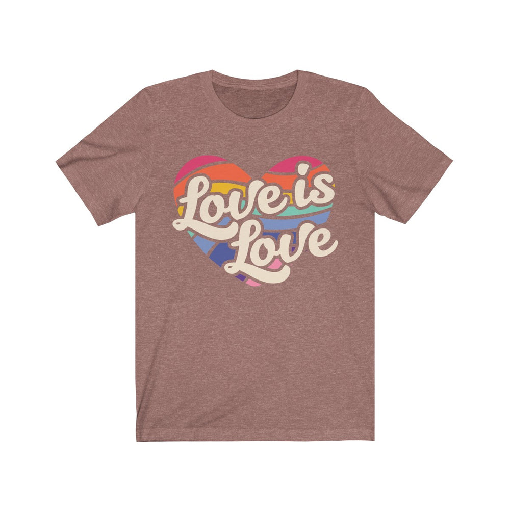(Soft Unisex Bella) Love is Love Rainbow Heart