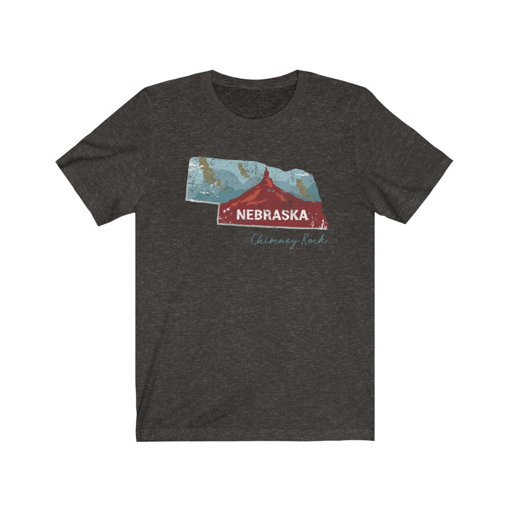 (Soft Unisex Bella) Nebraska Chimeny Rock