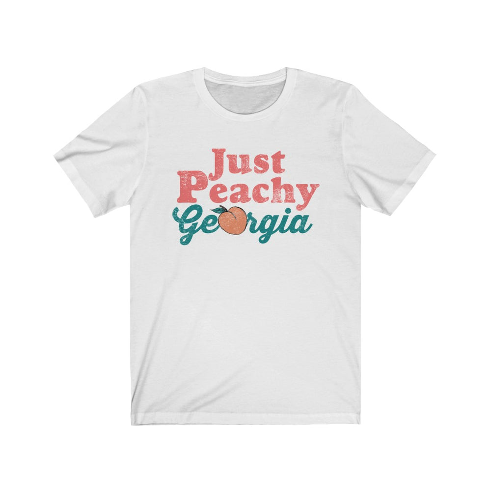 (Soft Unisex Bella) Georgia Just Peachy (pink darker) | Iconic State Tee T-Shirt
