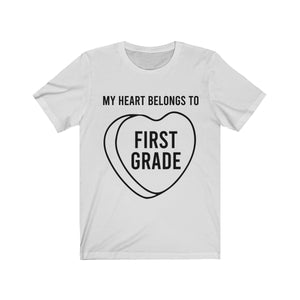 (Soft Unisex Bella) My Heart Belongs To Valentine - First Grade