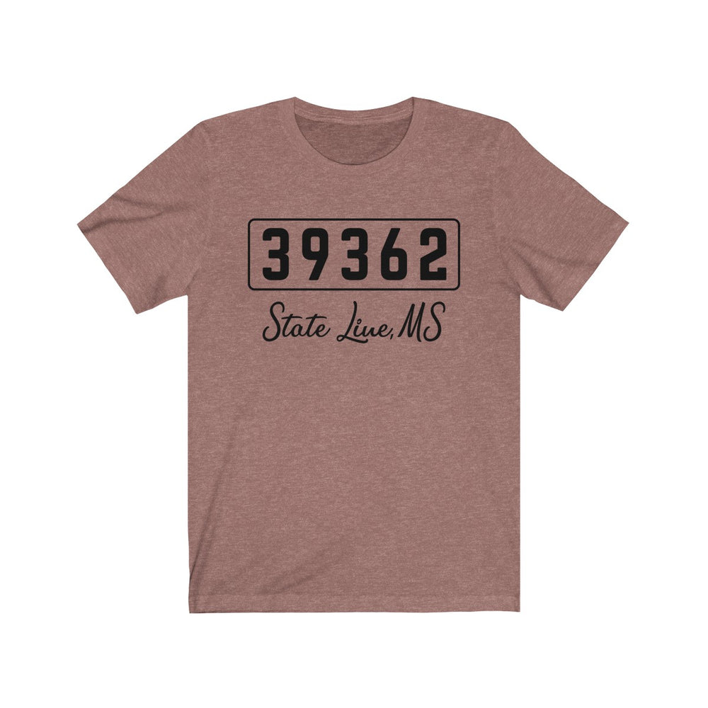 (Soft Unisex Bella) Zipcode City Name - State Line, MS 39362