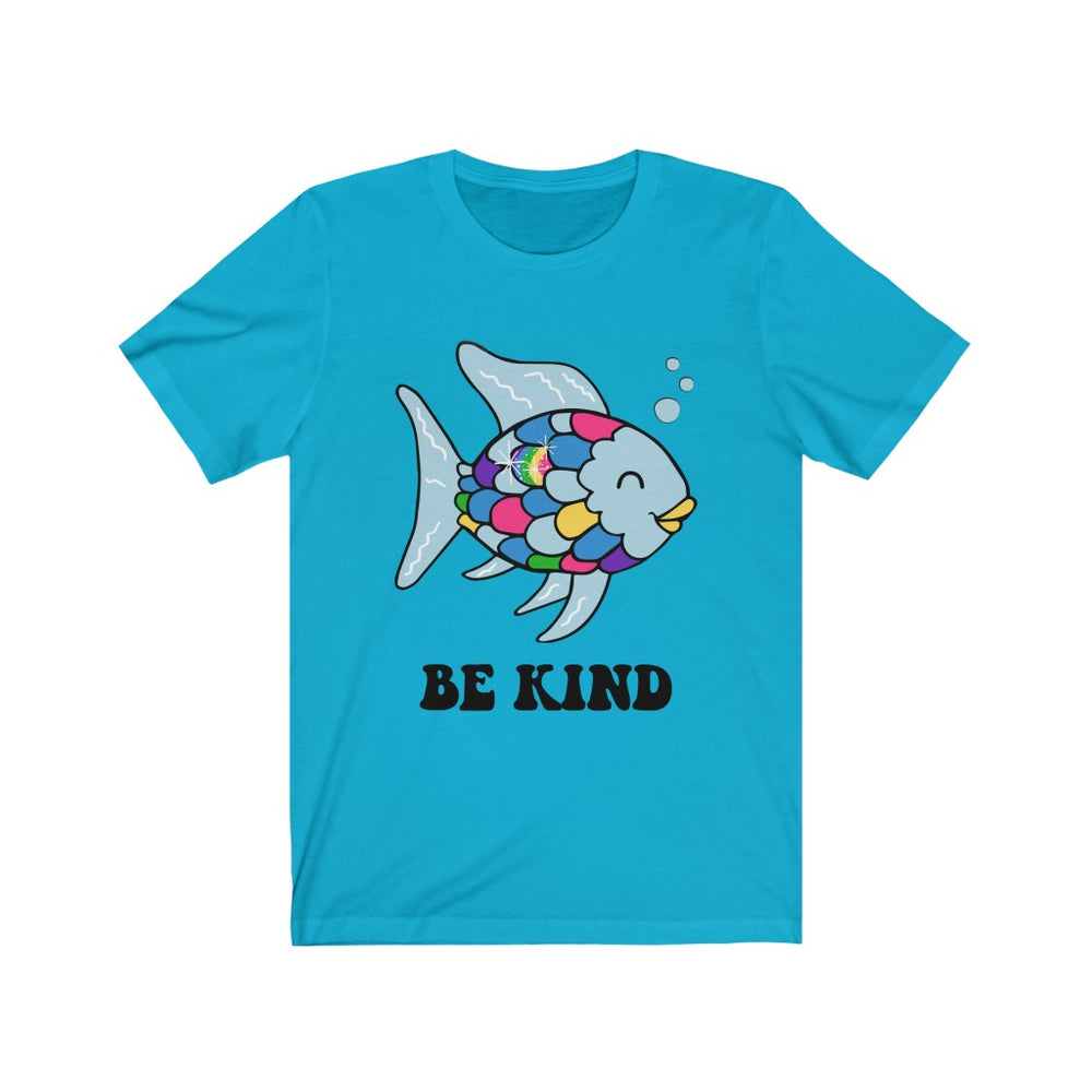 (Soft Unisex Bella - Blues) Be Kind Fish Rainbow Scale Reading Teaching Teacher School Books Children